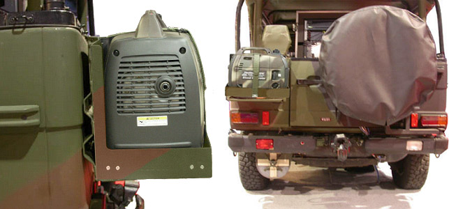 Rugged Tactical Vehicle Mounted Generators